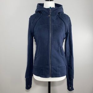 Lululemon Hiver 2013 Special Edition Scuba Hoodie Vest in Inkwell Navy Size 4